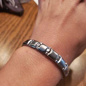 """Magnetic Stainless Steel Bracelet S/M 7"""""""